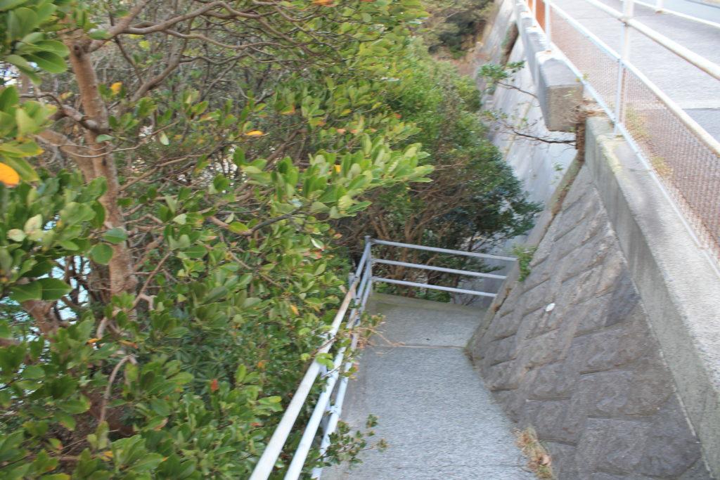 柏島の白浜ビーチに続く階段