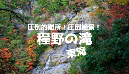 【難所】絶対に行ってはいけない!高知最大級⁉程野の滝が想像以上に凄かったレポ