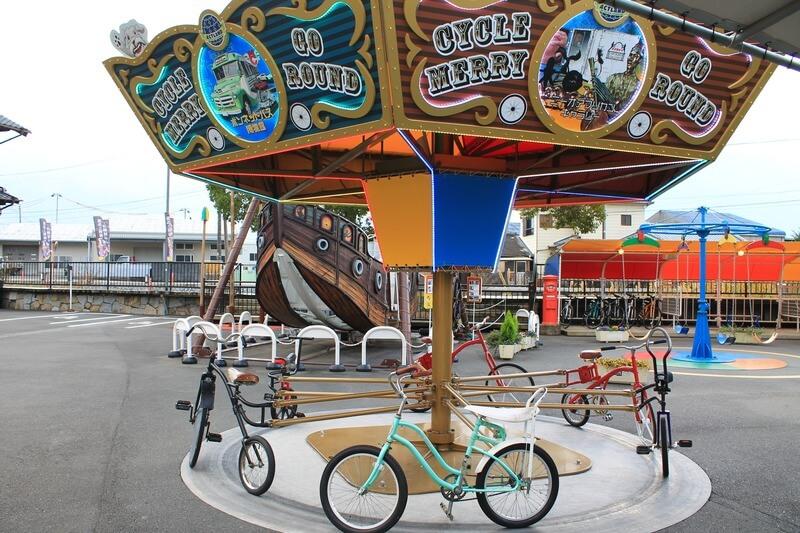 アクトランドわんぱく広場自転車のメリーゴーランド