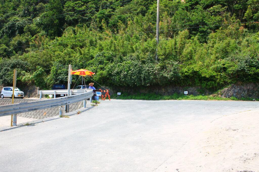 田牛海水浴場の駐車場