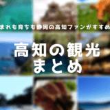 【高知へ行ってみようよ!】高知観光の情報のまとめ!ファンの静岡県民が解説!