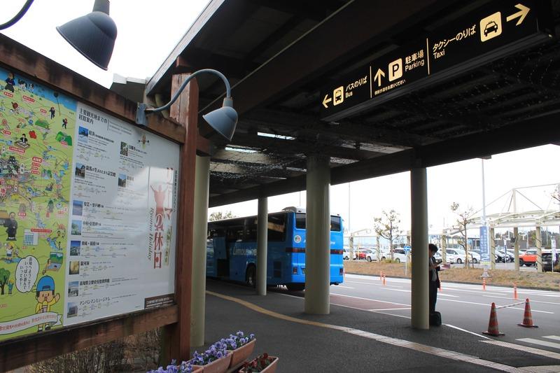 高知龍馬空港のバス乗り場