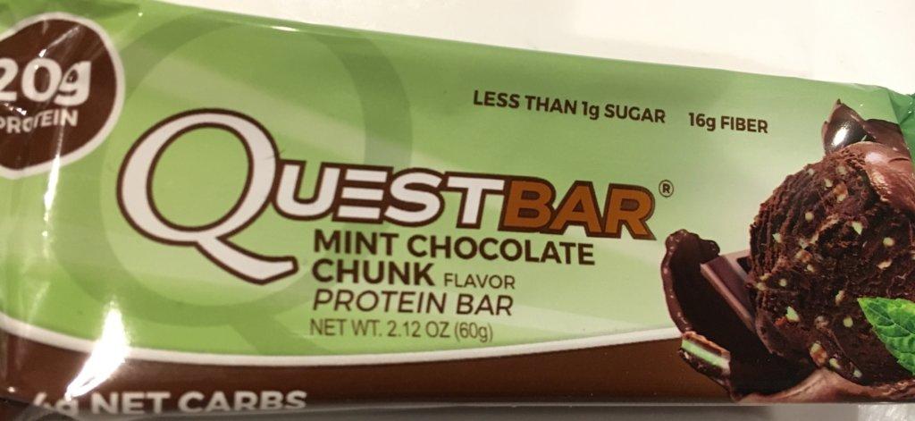 クエストバーミントチョコレートチュンク