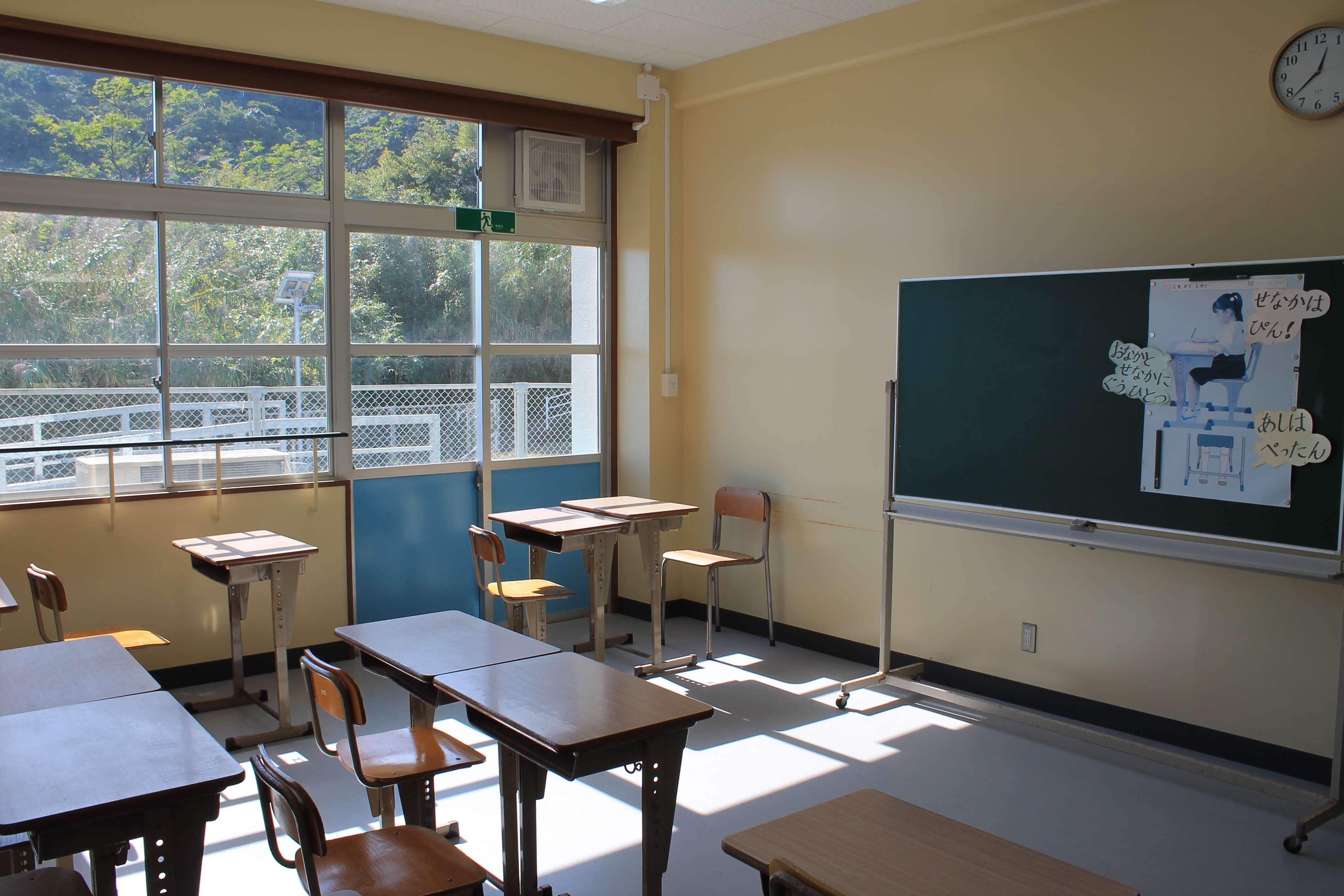 むろと廃校水族館:教室