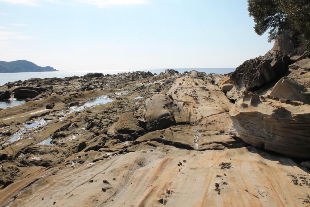 竜串海岸の奇岩