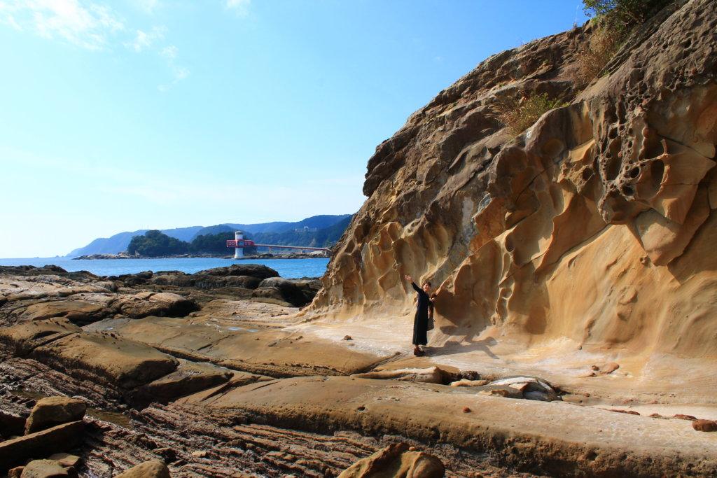 竜串の奇岩