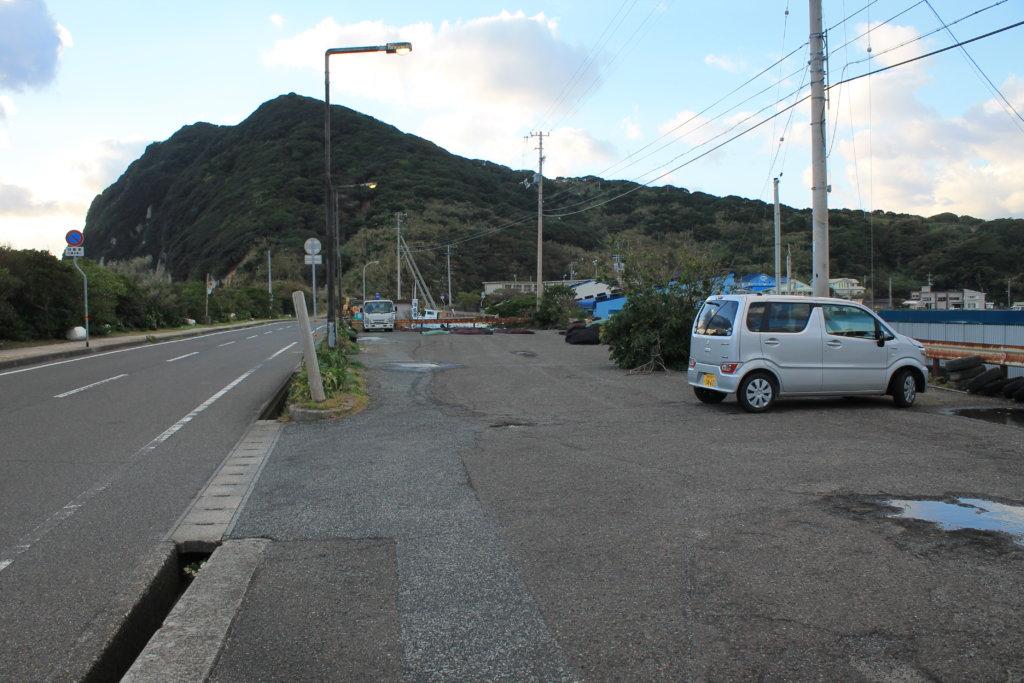 柏島海水浴場の駐車場