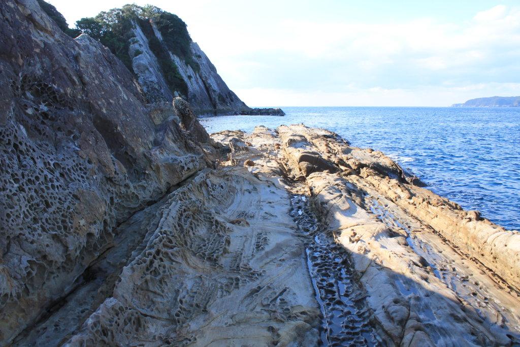 竜串見残し海岸の風景