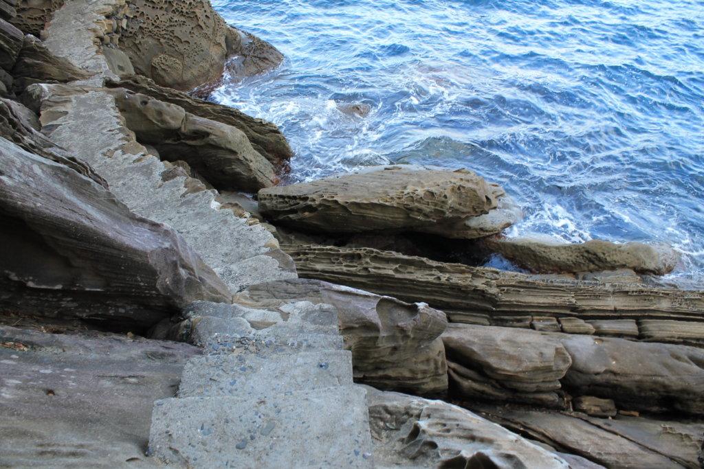 竜串見残し海岸の遊歩道