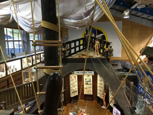 海洋堂ホビー館四万十館内のカタロニア船