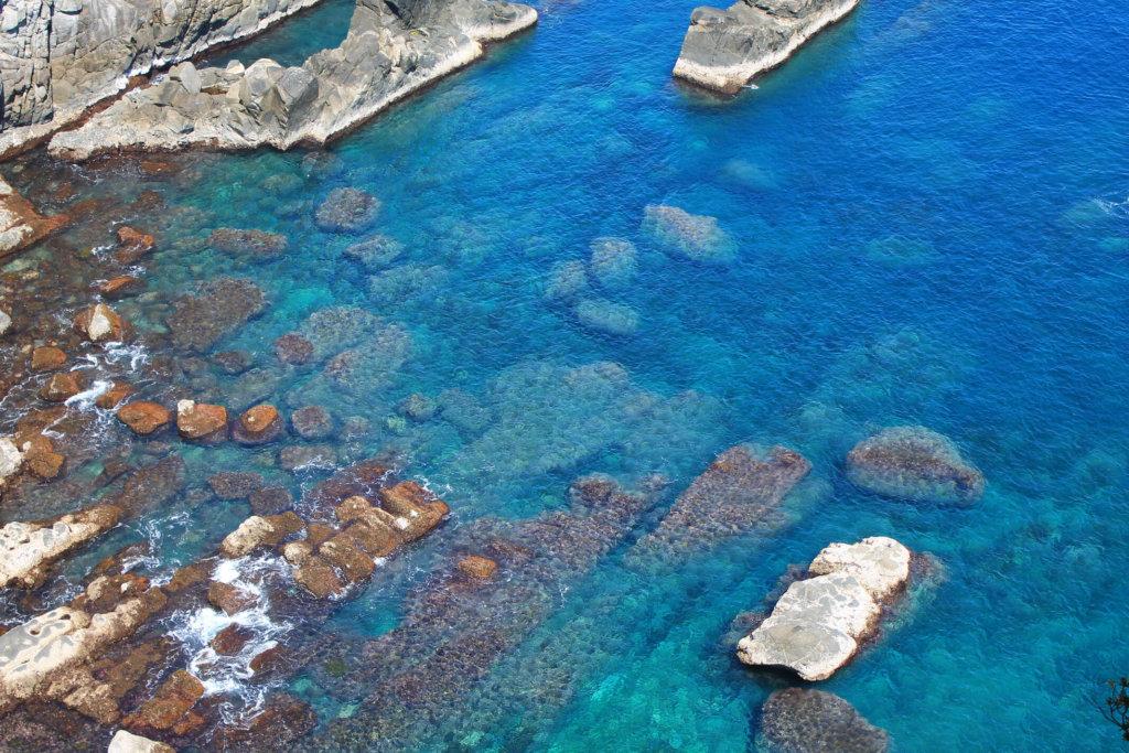 透明度が高い足摺岬の海