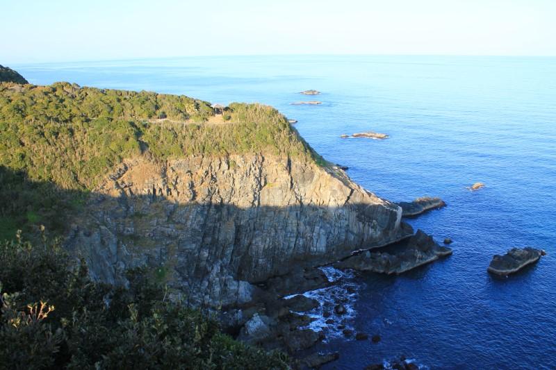 足摺岬の風景左側