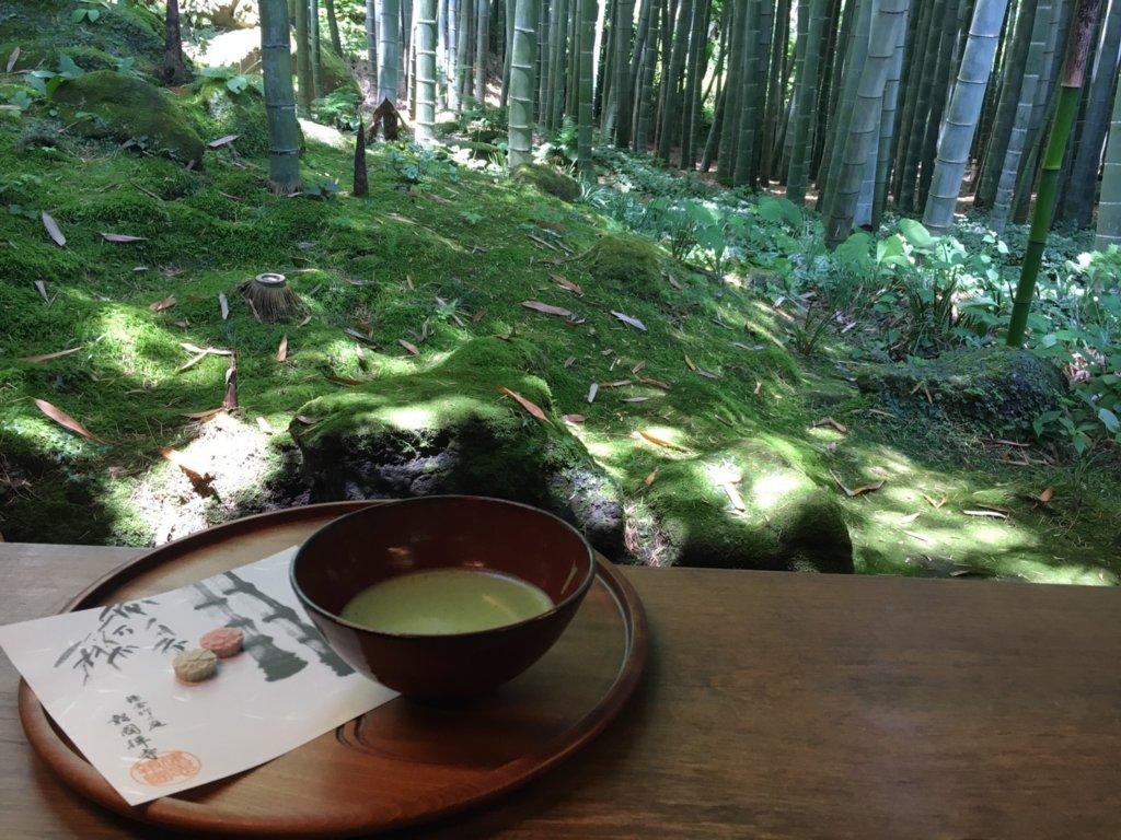 報国寺のお抹茶とお菓子