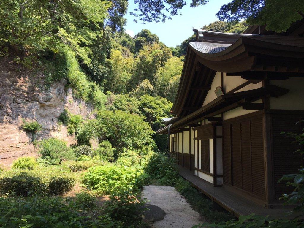 瑞泉寺の本堂裏