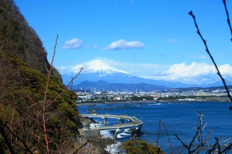 喫茶店:かいざんから見える富士山