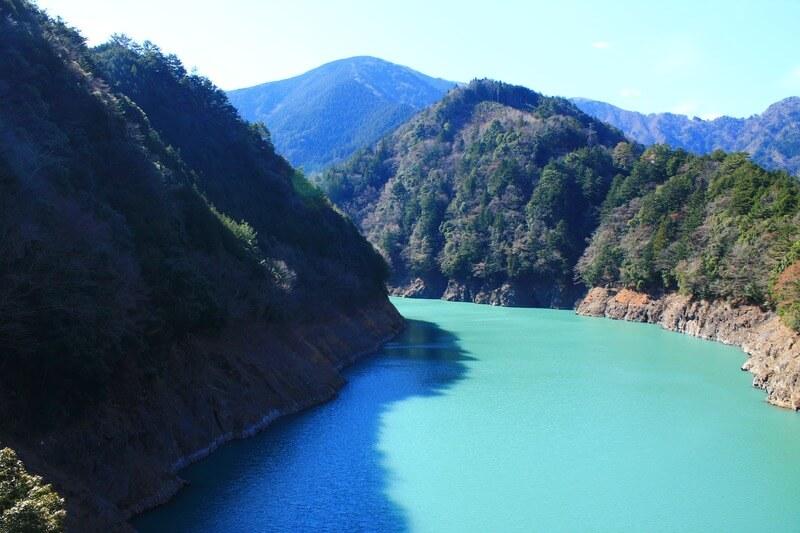 奥大井湖上駅の風景