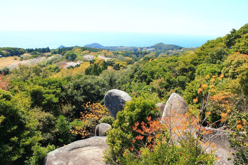 唐人駄場巨石群からの風景