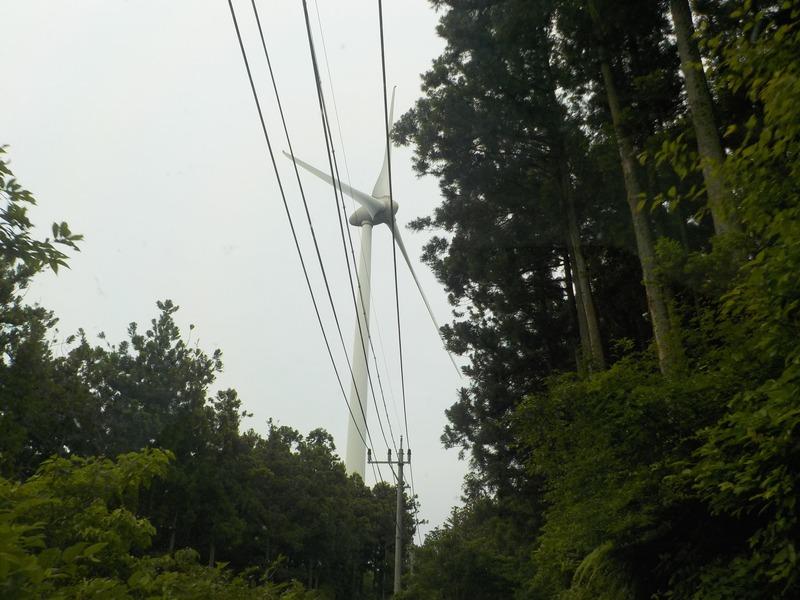 立須の目印の風車