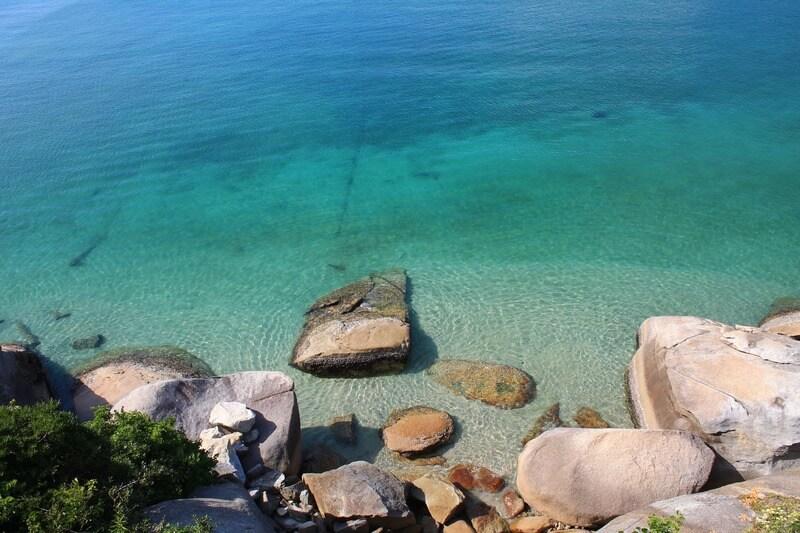 柏島の白浜の海