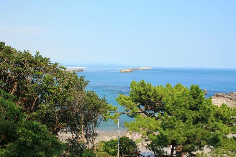 桂浜の美しい海