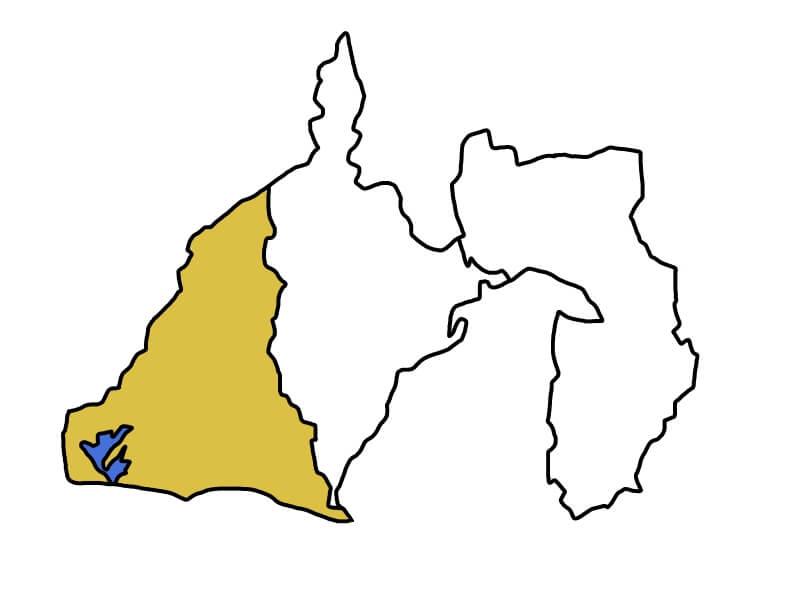 静岡県西部の地図
