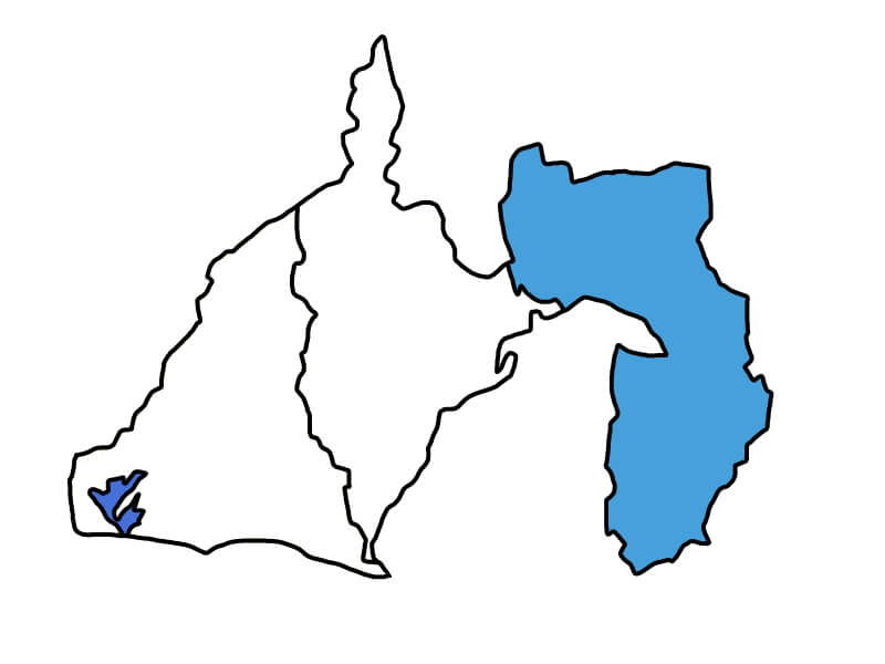 静岡県東部の地図